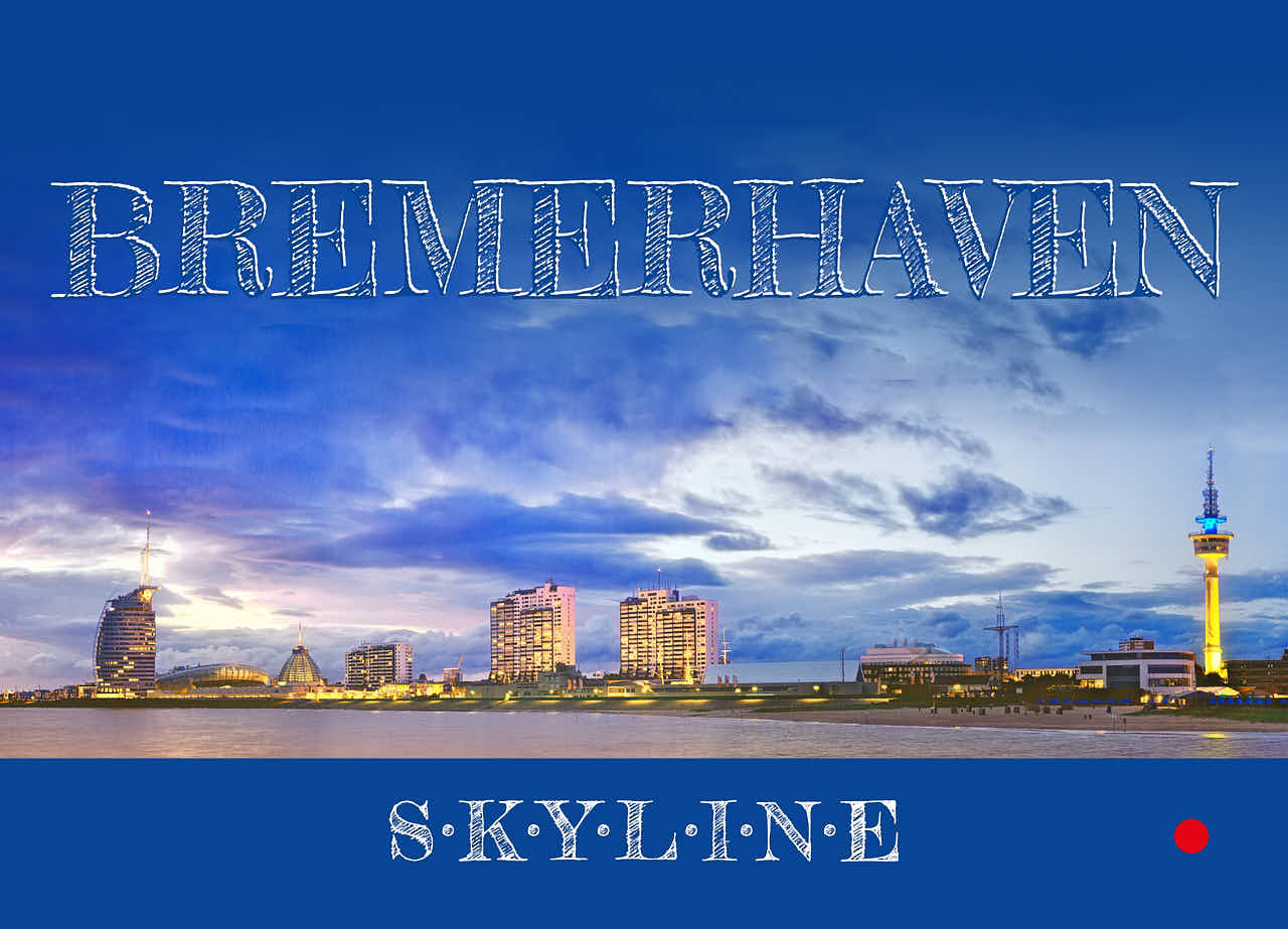 Produktbild Postkarte »Bremerhaven Skyline« © 2020 Adrian Wackernah