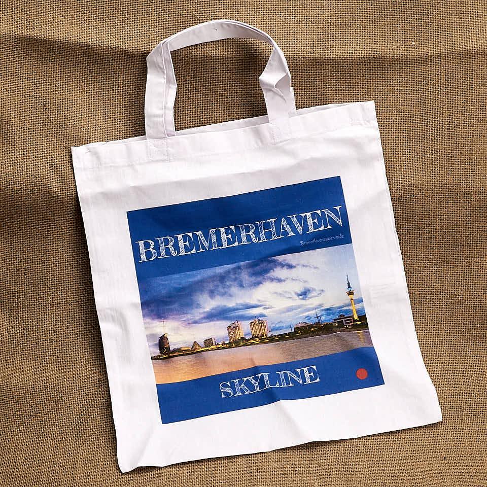 Produktbild Stofftragetasche »Bremerhaven Skyline« © 2020 Adrian Wackernah