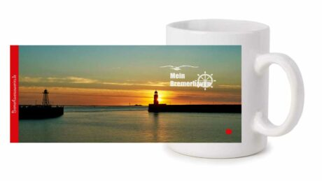 Fototasse »Bremerhaven Sonnenuntergang an der Geestemole«