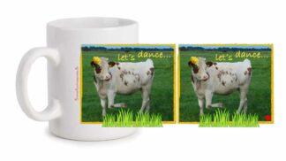 Fototasse »Kuh Let's dance«